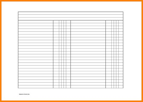 blank balance sheet template 11 blank balance sheets emt resume