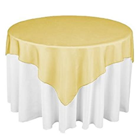 linentablecloth 60 inch square organza overlay