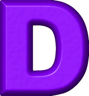 T I A G D presentation alphabets purple refrigerator magnet d