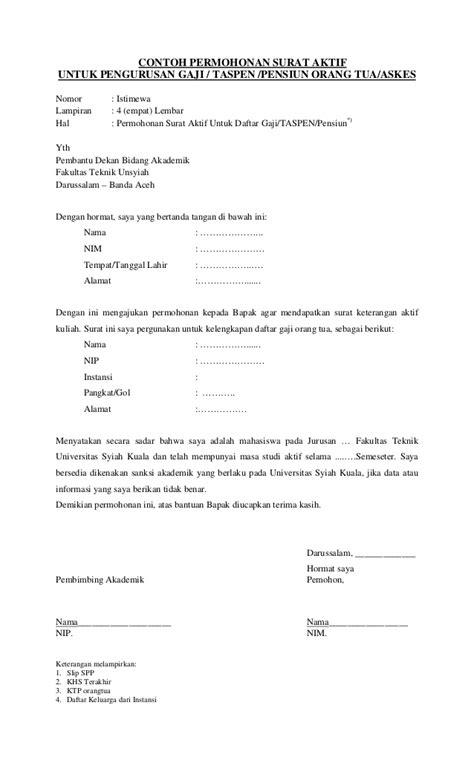 contoh surat permohonan mahasiswa teknik