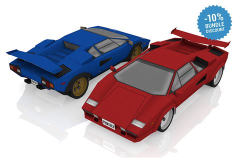 lamborghini countach inspired printach papercraft sports