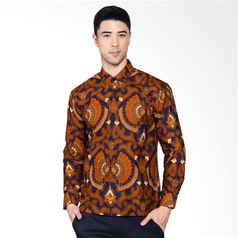 Vm Kemeja Batik Modern Slimfit Casual Wear Shirt B 183 Biru jual adiwangsa modern slim fit model baju kemeja batik pria coklat 040 harga