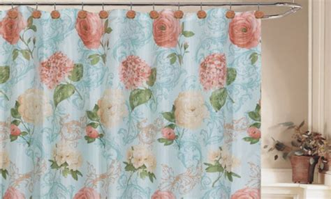 Vintage Floral Shower Curtains Vintage Shower Curtains Vintage Linen Shower Curtain