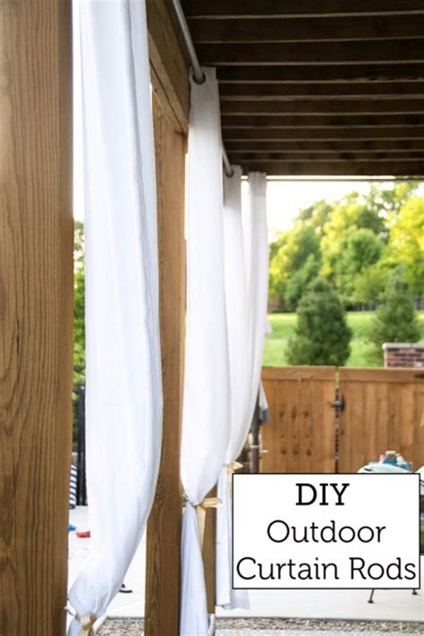 outdoor curtain rod ideas best 25 outdoor curtain rods ideas on pinterest cheap