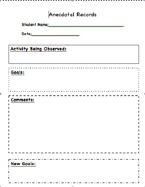 anecdotal notes template classroom freebies and resources anecdotal notes