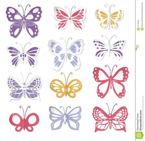 imagenes mariposas de papel sistema de 12 mariposas de papel ilustraci 243 n del vector