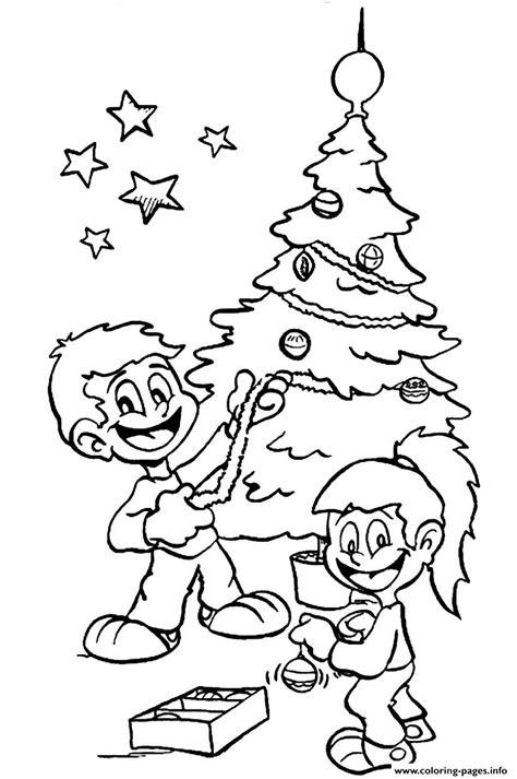 Decorating Tree S For Christmas Kids253e Coloring Pages Decorated Tree Coloring Page