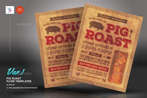 Pig Roast Flyer Templates By Kinzi21 Graphicriver Hog Roast Flyer Template