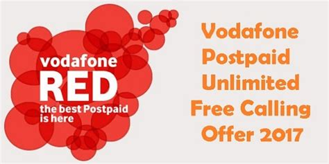 vodafone offers for mobile vodafone postpaid offers 3g 4g data free local std