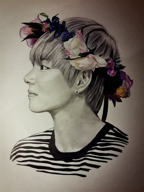 V Drawing Bts Easy by V Bts By Olyazabolockaya5 On Deviantart