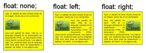 imagenes html float concepto float css none left right y 191 centrar colocar