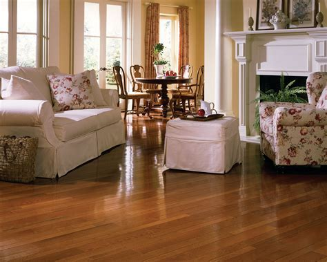 "1/2"" x 5"" Gunstock Oak Prefinished Engineered Hardwood Floor"