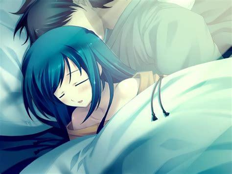 wallpaper couple in bed anime couple hd wallpaper wallpapersafari
