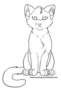 Anime Sitting Outline by Free Sitting Cat Lineart By Meeshmoose On Deviantart