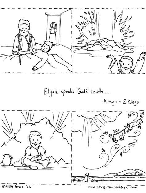 coloring page for elijah and the widow free elijah widow coloring pages