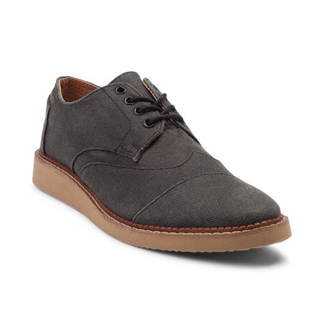 casual shoes mens toms brogue casual shoe gray 353954