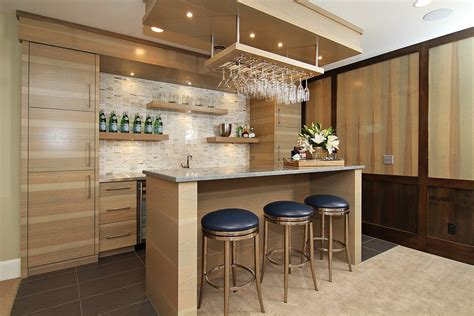 wine glass rack home bar contemporary with concrete island