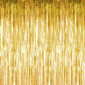 Gold Metallic Curtains, Gold Fringe Style 8' Metallic Curtains