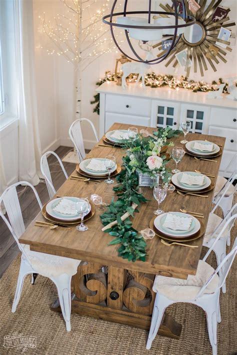 neutral rustic glam christmas table ideas christmas
