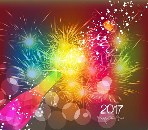 happy new year glassy design happy new year 2017 greeting card or poster design with