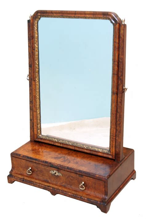 Antique Vanity Dressing Table With Mirror by Antique Georgian Walnut Dressing Table Mirror 303982