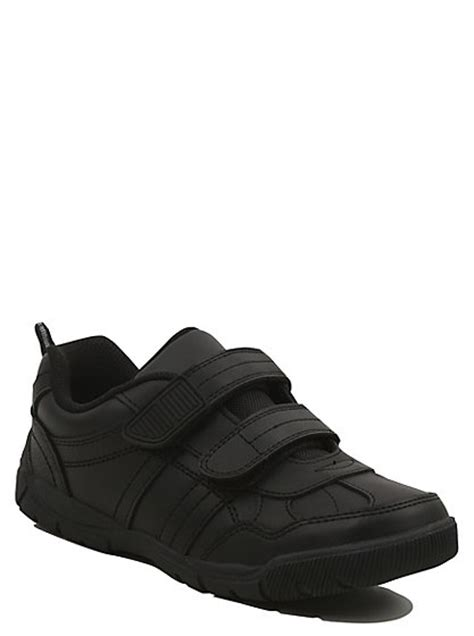 asda george shoes boys school wide fit 2 shoes black george