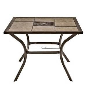 images tile top patio charleston  square tile top patio table shopko