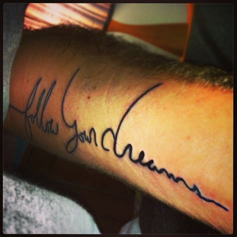 signature tattoo new forearm my own signature