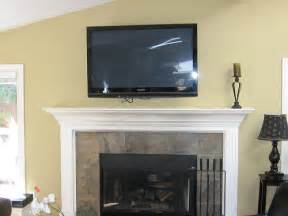 after fireplace remake flat screen tv installation 199