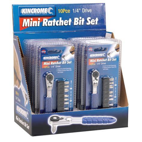 Set Kutubaru Mini 1 mini ratchet bit set 10 bit sets 14 kincrome australia pty ltd kincrome