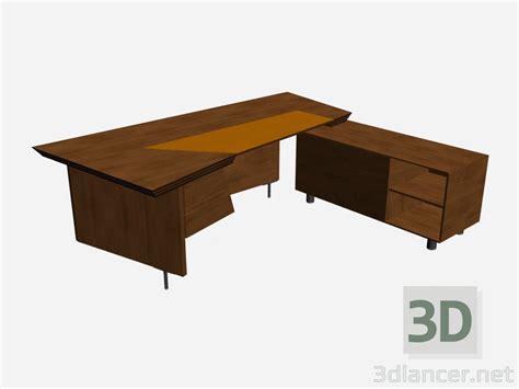 scrivania 3d 3d model table writing scrivania lineare il loft