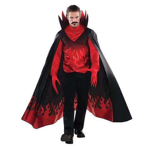 new halloween mens diablo devil costume shirt vest cape