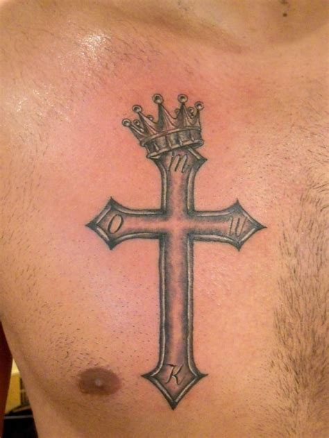 small cross tattoo on chest 90 different styles of a cross