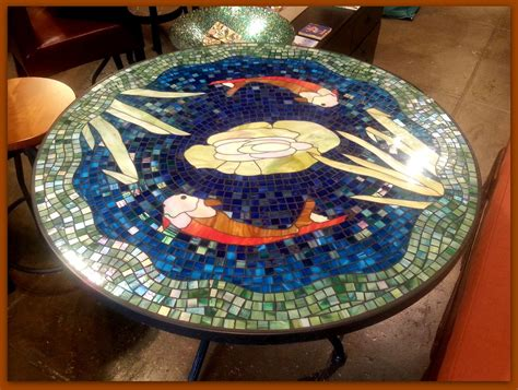 how to a mosaic table top for outdoors tile and glass mosaic tables