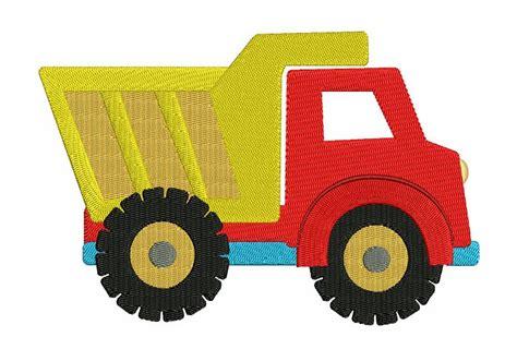 Dump Truck Machine Embroidery Design by Dump Truck Machine Embroidery Filled Design Instant