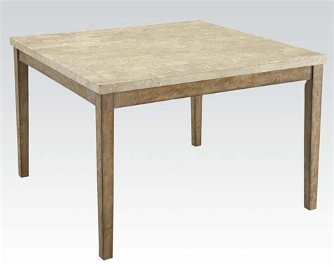 Marble Top Bar Height Table by White Marble Top Counter Height Table By Acme Ac71720