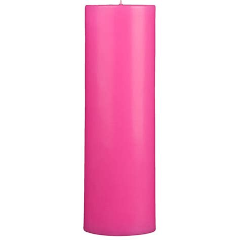 Pink Candles 4x12 Pink Pillar Candle