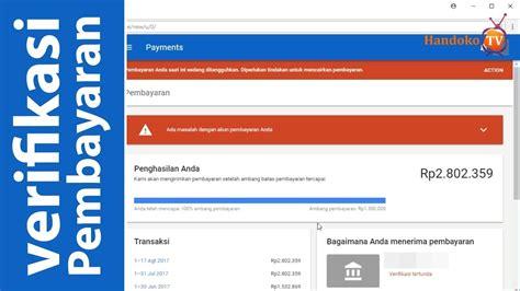 adsense youtube indonesia verifikasi pembayaran youtube melalui transfer bank