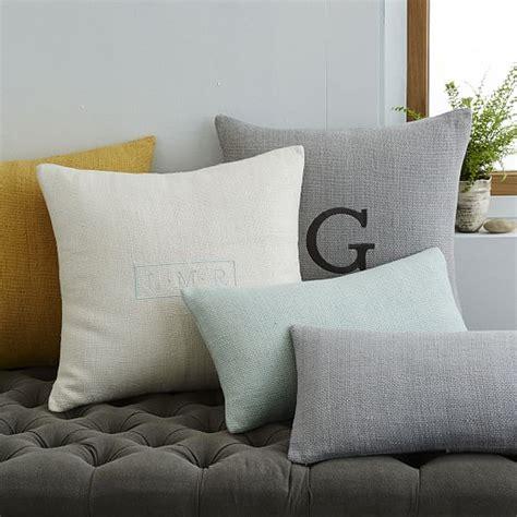 Harbor Linen Pillows Sale by Silk Loomed Lumbar Pillow Cover Platinum West Elm