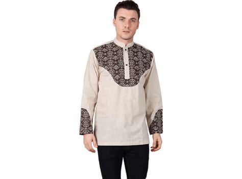 Baju Koko Bahan Dobi Salur Simple Modern 1 model baju koko modern yang nyaman di pakai modelmuslim