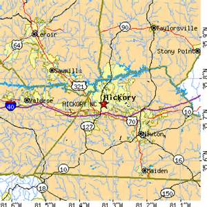 map of hickory carolina hickory carolina nc population data races