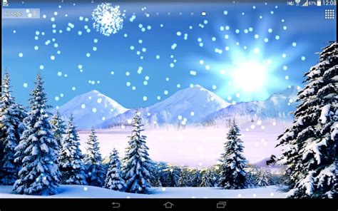 wallpaper christmas snow 3d snowfalling live wallpaper android apps on google play