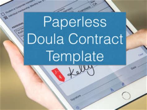 Doulas Go Paperless Childbirth Professionals International Doula Contract Template