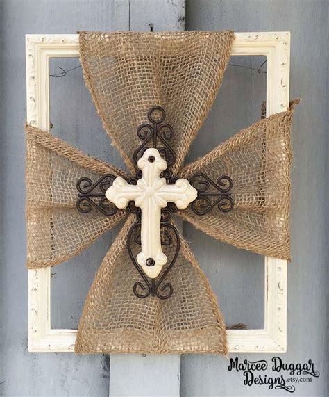 rustic fabric cross rustic home decor rustic cross fabric ceramic cross burlap trim wood frame home decor