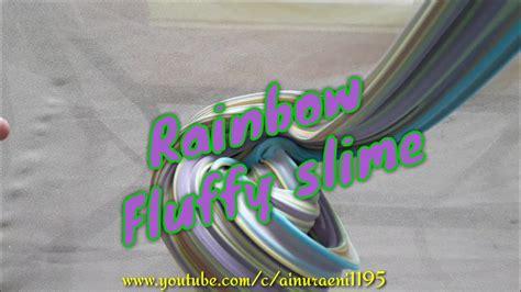 membuat rainbow fluffy slime  mudah banget