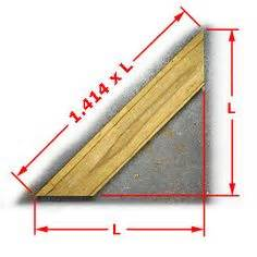 woodworking angle calculator calculating length of 45 degree angle board