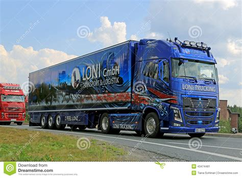 volvo truck service germany german volvo fh show truck of loni gmbh editorial photo