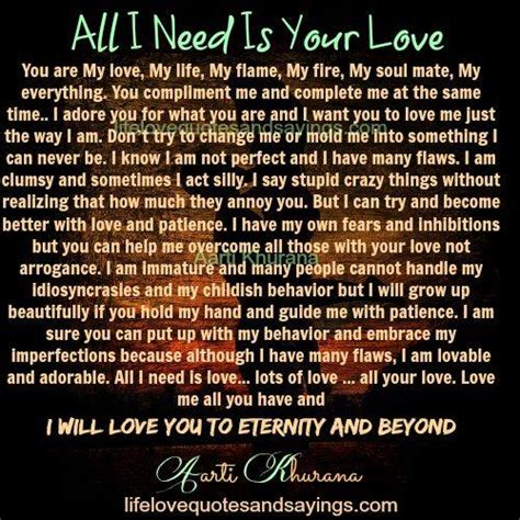 all i need my my need your quotes quotesgram