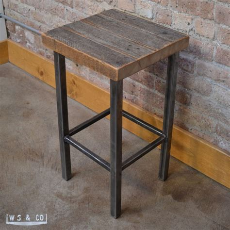 Reclaimed Wood Counter Height Stools by Counter Stool 25 Quot Reclaimed Wood Metal Legs Aftcra