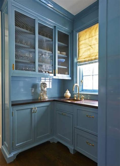 beadboard pantry blue lacquer kitchen cabinets with blue beadboard trim